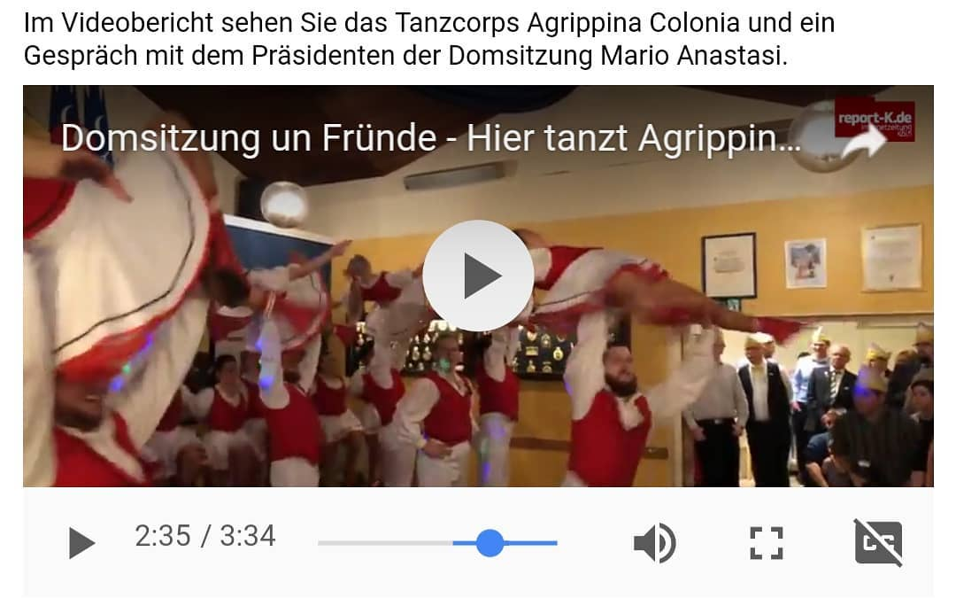 Hier gibts den Link zum Wochenende httpswwwreportkdeKoelnNachrichtenKoelnerKarnevalDomsitzungundFruendeDamenpartyderSitzungsmarathondeserstenjeckenWochenendes90381 TAC Dance Tanzcorpshellip